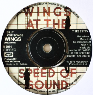"Wings ‎- Silly Love Songs (7"") (VG-/NM)"